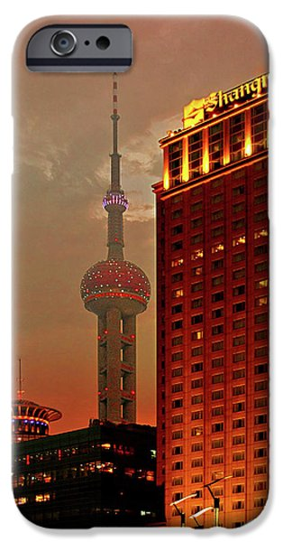 Pudong Shanghai - First City of the 21st Century iPhone Case by Christine Till