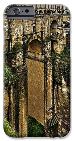 Spanien iPhone Cases - Puente Nuevo - Ronda iPhone Case by Juergen Weiss