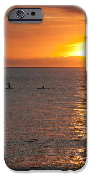 Kayak iPhone Cases - Puerto Vallarta Sunset iPhone Case by Sebastian Musial