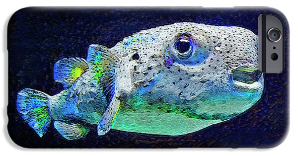 Porcupine Fish iPhone Cases - Puffer Fish iPhone Case by Jane Schnetlage