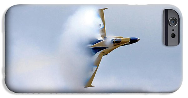 F-18 iPhone Cases - Pulling Vapor iPhone Case by Bill Lindsay