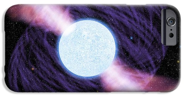 Jet Star iPhone Cases - Pulsar iPhone Case by Chris Butler