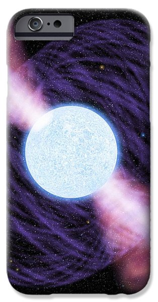 Pulsar iPhone Case by Chris Butler