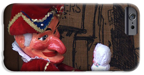 Christmas Greeting iPhone Cases - Punch and Judy iPhone Case by Chris Day