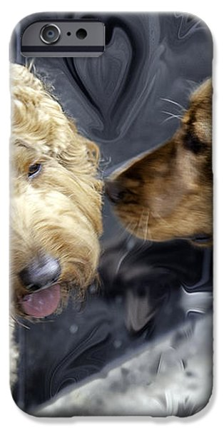 Puppy Love iPhone Case by Madeline Ellis