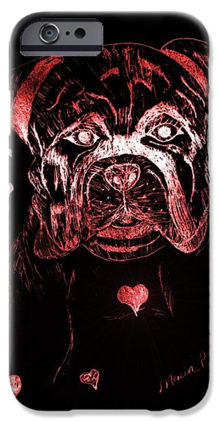 Puppy Love iPhone Case by Maria Urso