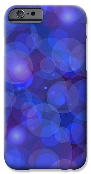 Purple And Blue Abstract iPhone Case by Frank Tschakert