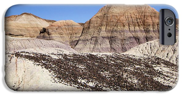 Petrified Forest Arizona iPhone Cases - Purple Bands iPhone Case by Adam Jewell