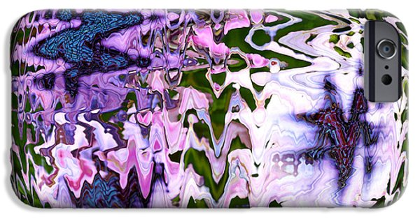 Abstracts From Nature iPhone Cases - Purple Daisies World - Abstract Art iPhone Case by Carol Groenen