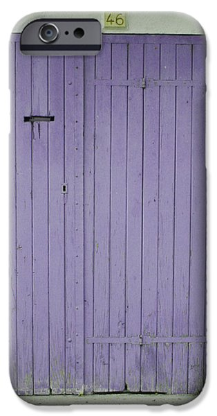 Purple Door Number 46 iPhone Case by Nomad Art And  Design