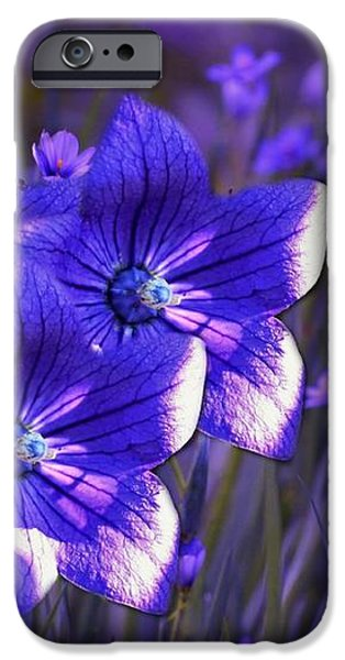 Purple Florwer Abstract iPhone Case by Marjorie Imbeau