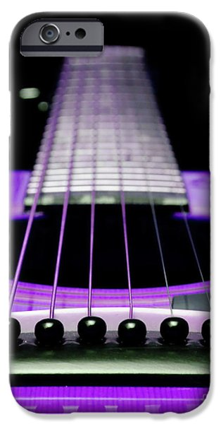 Purple Guitar 15 iPhone Case by Andee Design