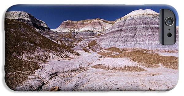 Petrified Forest Arizona iPhone Cases - Purple Landscape iPhone Case by Adam Jewell