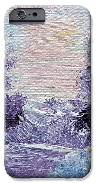 Purple Majesty Landscape iPhone Case by Jera Sky