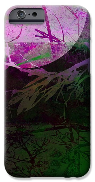 Purple Moon iPhone Case by Ann Powell