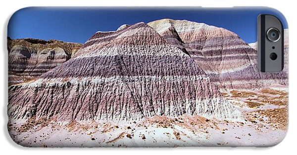 Petrified Forest Arizona iPhone Cases - Purple Mountain Majesty iPhone Case by Adam Jewell