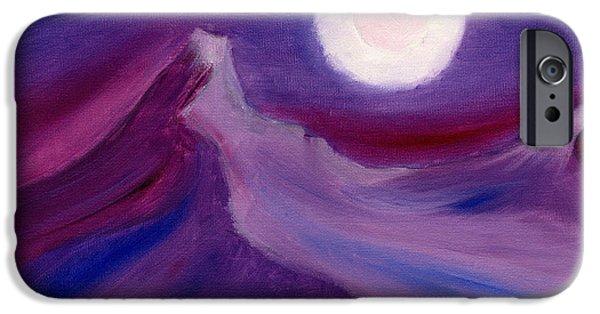 Alizarin Crimson iPhone Cases - Purple Night 2 iPhone Case by Hakon Soreide