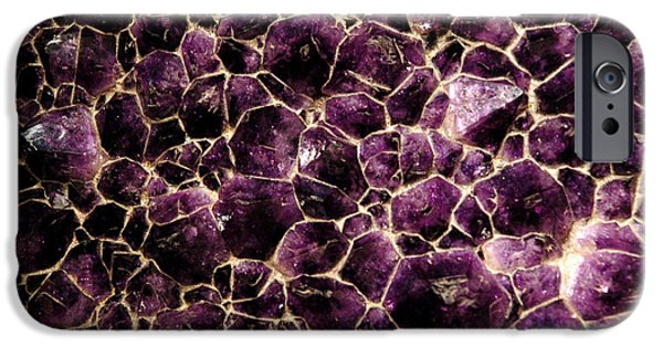 Smithsonian Museum iPhone Cases - Purple Quartz  Amethyst iPhone Case by LeeAnn McLaneGoetz McLaneGoetzStudioLLCcom