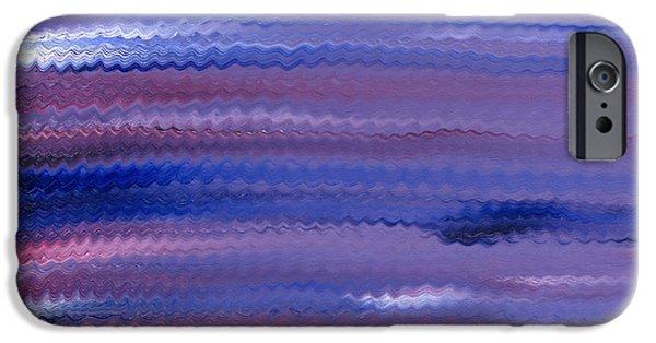 Alizarin Crimson iPhone Cases - Purple Waves iPhone Case by Hakon Soreide