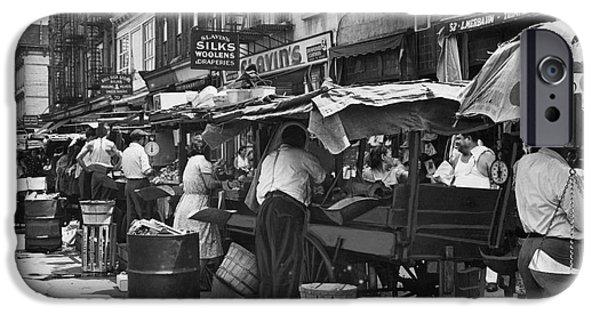 Escape iPhone Cases - Pushcart Market, 1939 iPhone Case by Granger