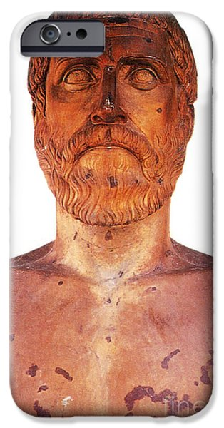 Figure iPhone Cases - Pythagoras, Greek Mathematician iPhone Case by Photo Researchers