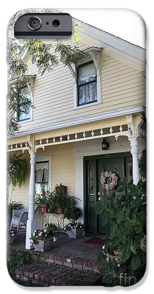 Quaint House Architecture - Benicia California - 5D18794 iPhone Case by Wingsdomain Art and Photography