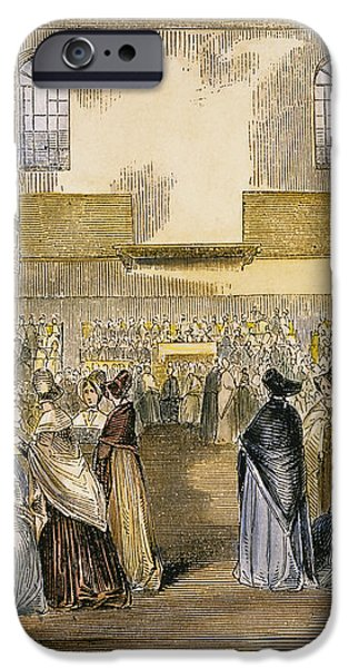 QUAKER MEETING, 1843 iPhone Case by Granger