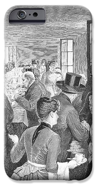 QUAKER MEETING, 1888 iPhone Case by Granger
