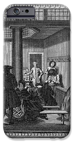 QUAKER MEETING, c1790 iPhone Case by Granger