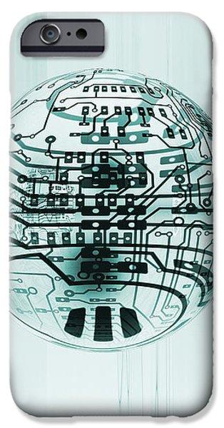 Quantum Computing iPhone Case by Mehau Kulyk