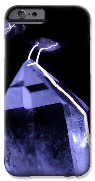 Quartz Crystal & Sparks iPhone Case by Ted Kinsman
