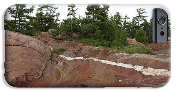 Killarney Provincial Park iPhone Cases - Quartz Vein iPhone Case by Ted Kinsman