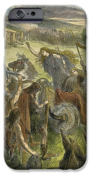 Briton iPhone Cases - QUEEN BOADICEA, 1st CENT iPhone Case by Granger