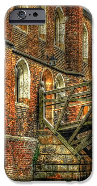 Queens' College And Mathematical Bridge iPhone Case by Yhun Suarez