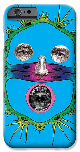 Querschnittgesicht iPhone Case by Eric Edelman