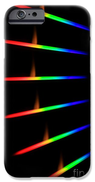 Limelight iPhone Cases - Quicklime Spectra Limelight iPhone Case by Ted Kinsman