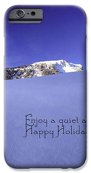 Quiet and Peaceful Christmas iPhone Case by Sabine Jacobs
