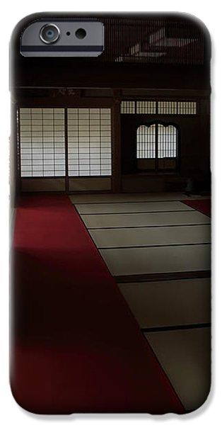 QUIETUDE of ZEN MEDITATION ROOM - KYOTO JAPAN iPhone Case by Daniel Hagerman