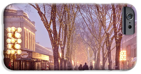 Celebration Photographs iPhone Cases - Quincy Market Stroll iPhone Case by Susan Cole Kelly
