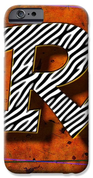 D.c. Pyrography iPhone Cases - R iPhone Case by Mauro Celotti