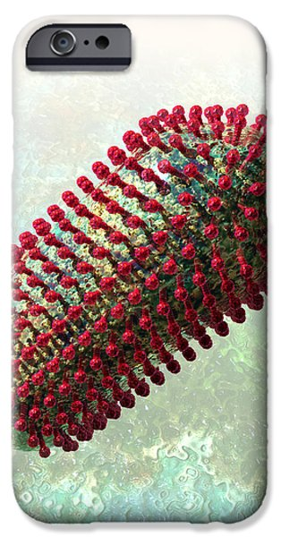 Rabies Virus 2 iPhone Case by Russell Kightley