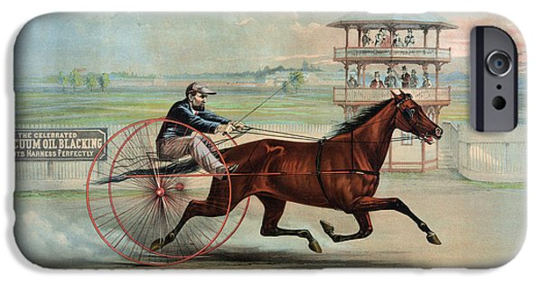 Horse Racing Photographs iPhone Cases - Racehorse: Goldsmith Maid iPhone Case by Granger