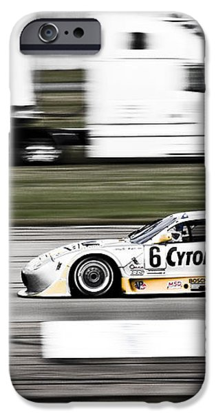 Racing By iPhone Case by Darcy Michaelchuk