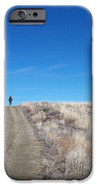 Racing Over the Horizon iPhone Case by Heather Kirk