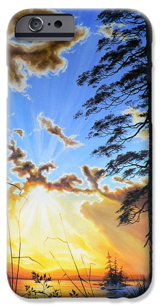 Radiant Reflection iPhone Case by Hanne Lore Koehler