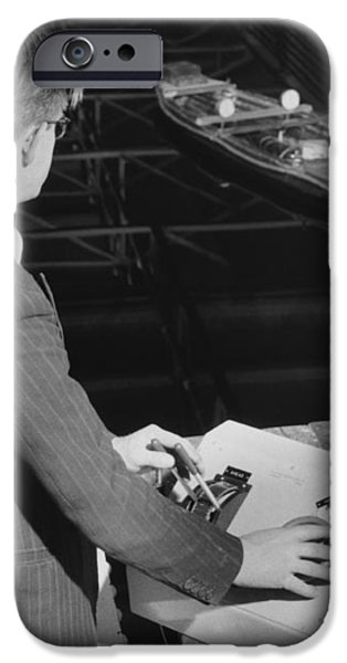 Radio-controlled Model Tug, 1955 iPhone Case by National Physical Laboratory (c) Crown Copyright