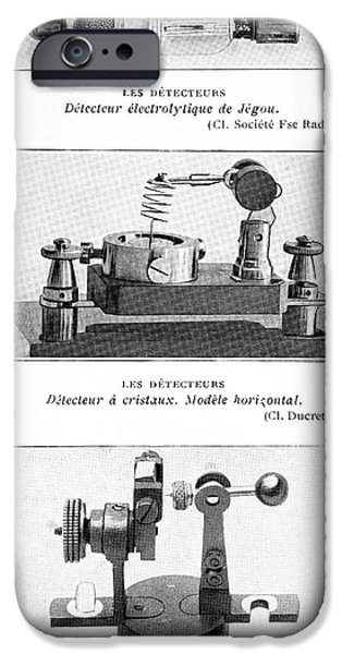 Radio Receiver Components, 1914 iPhone Case by
