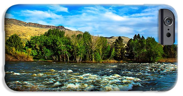 Silk Water iPhone Cases - Raging River iPhone Case by Robert Bales