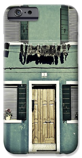 Rag iPhone Cases - rags in Venice iPhone Case by Joana Kruse