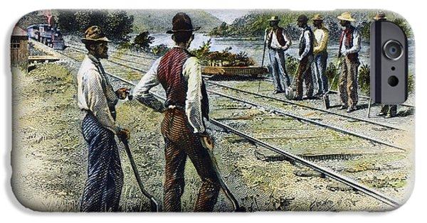 Destiny iPhone Cases - Railroad Construction iPhone Case by Granger